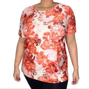 DG2 Diane Gilman Women's Orange Blouse XL